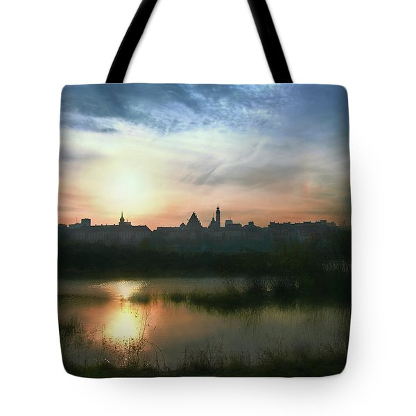Old Town In Warsaw #18 Tote Bag