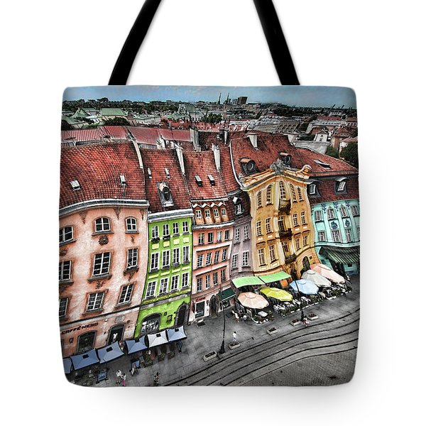 Old Town In Warsaw #20 Tote Bag