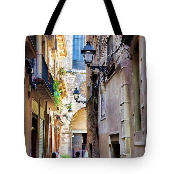 Old Town La Rambia Barcelona  Tote Bag