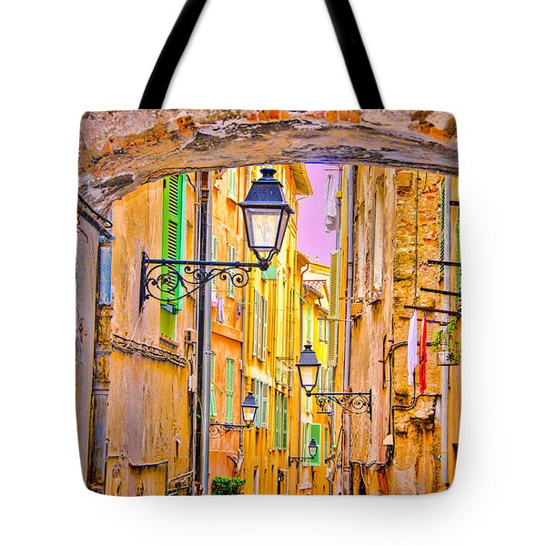 Old Town Nizza, Southern France Tote Bag