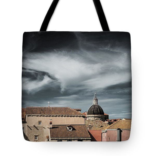 Old Town Skyline Tote Bag