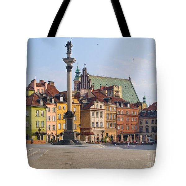 Old Town Square Zamkowy Plac In Warsaw Tote Bag