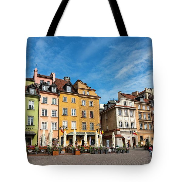 Tote Bag featuring the photograph Old Town Warsaw by Chevy Fleet