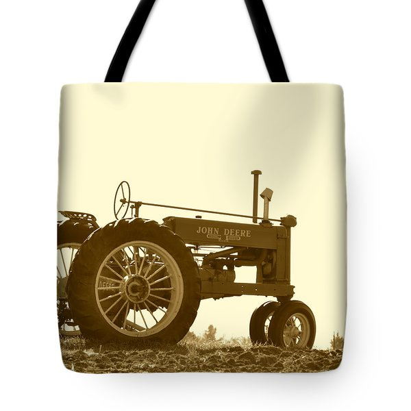 Old Tractor IIi In Sepia Tote Bag