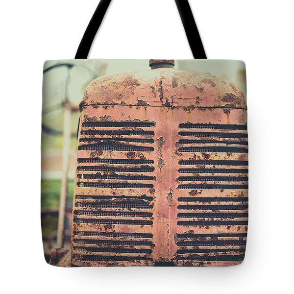 Tote Bag featuring the photograph Old Tractor Vintage Look by Edward Fielding