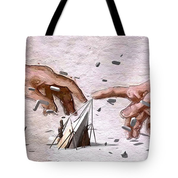 Traditional Art Vs. Digital Art Tote Bag by ISAW Gallery