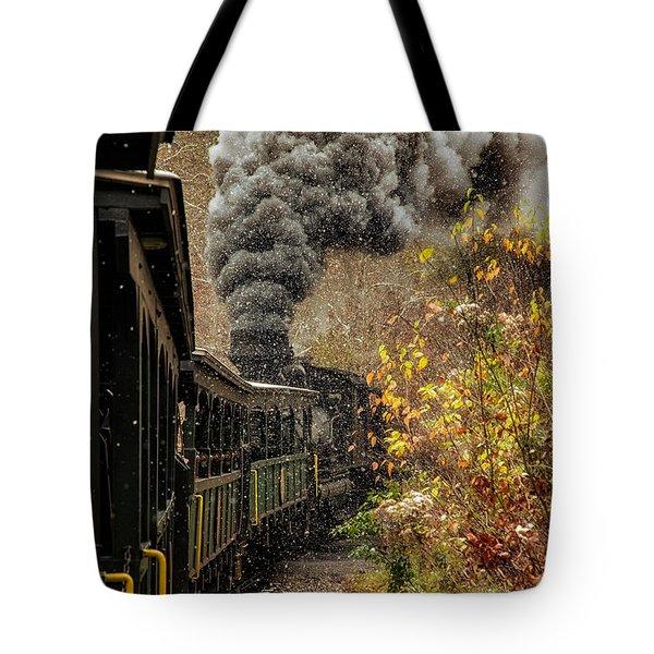 Old Train 9378 Tote Bag