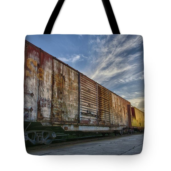 Old Train - Galveston, Tx Tote Bag by Kathy Adams Clark