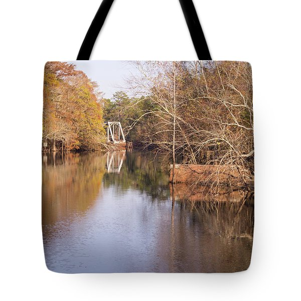 Old Trestle On The Waccamaw River Tote Bag