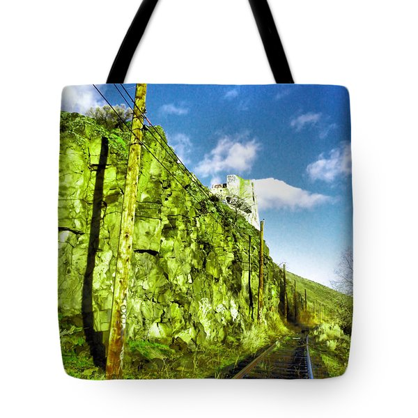 Tote Bag featuring the photograph Old Trolly Tracks by Jeff Swan