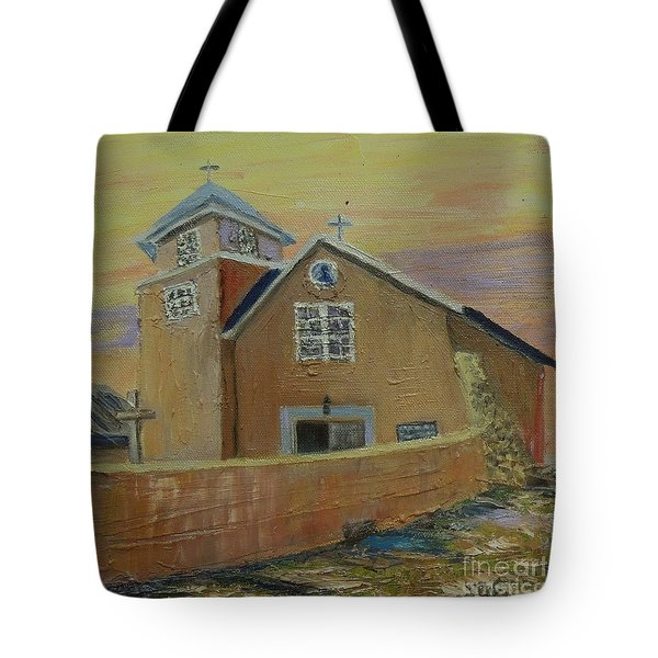 Old Truches Mission Of Holy Rosary -- Sold Tote Bag