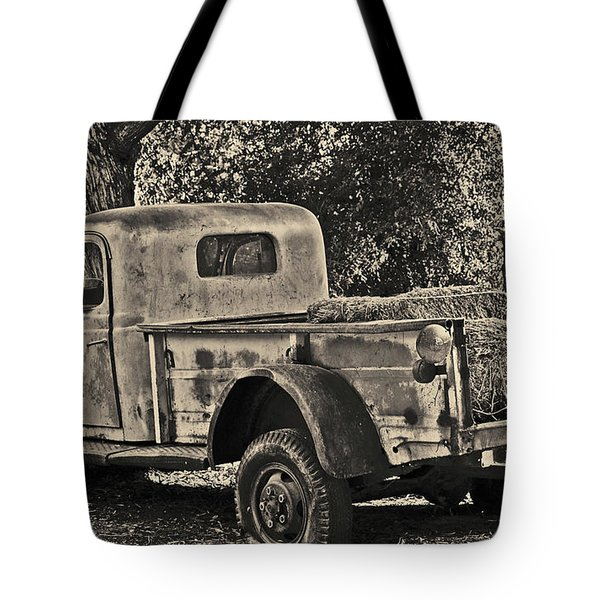 Tote Bag featuring the photograph Old Truck by Frank Stallone