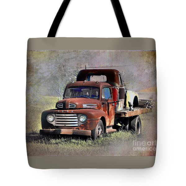 Tote Bag featuring the photograph Old Trucks by Savannah Gibbs