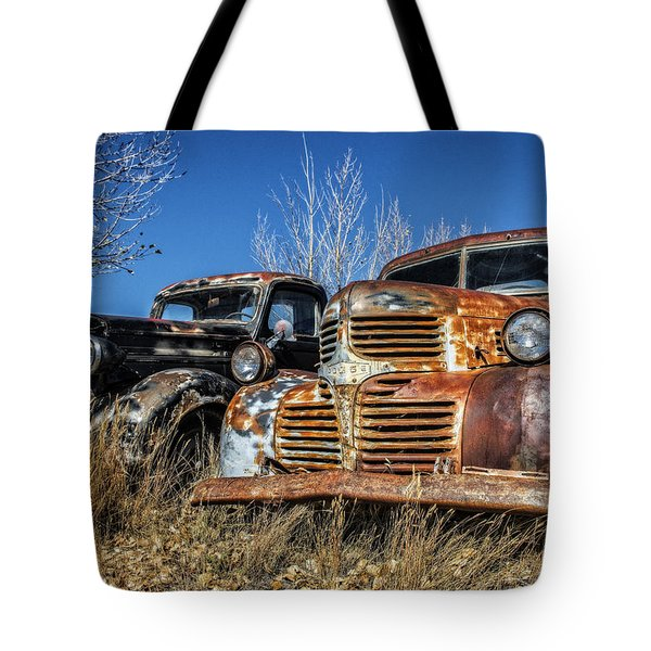 Old Trucks Tote Bag
