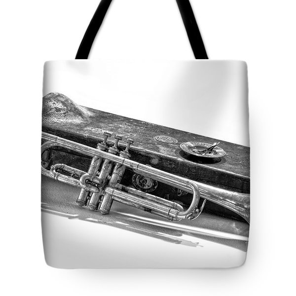 Tote Bag featuring the photograph Old Trumpet by Walt Foegelle