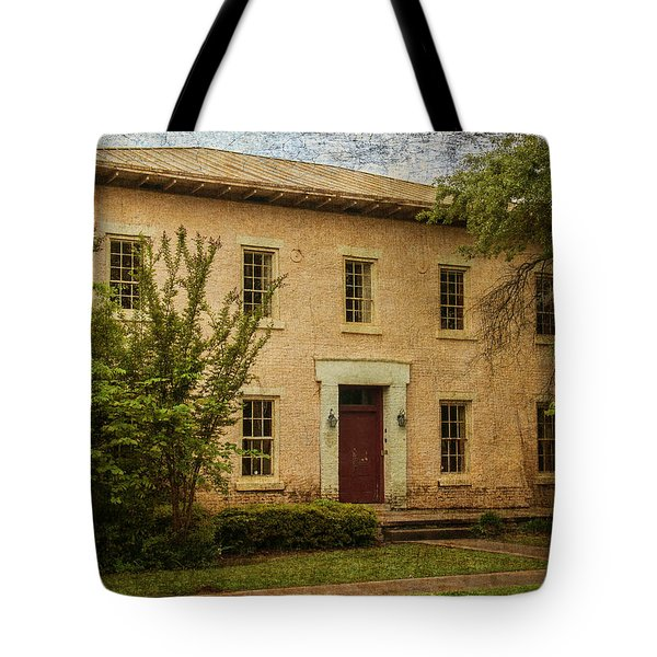 Old Tuscaloosa Jail Tote Bag by Phillip Burrow