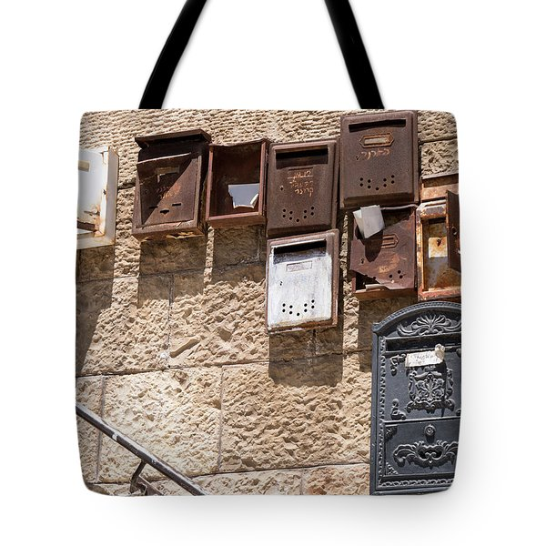 Old  Mailboxes In Jerusalem Tote Bag