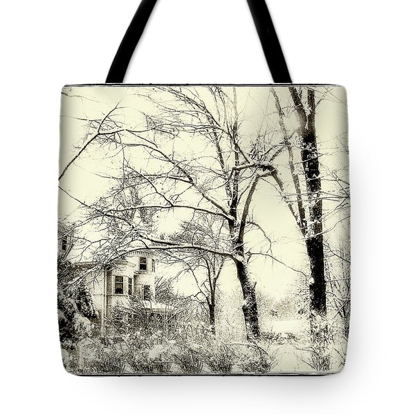 Tote Bag featuring the photograph Old Victorian In Winter by Julie Palencia