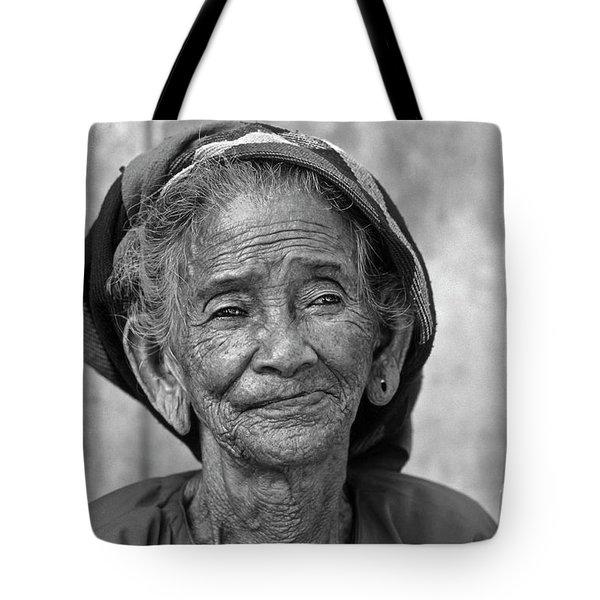 Old Vietnamese Woman Tote Bag