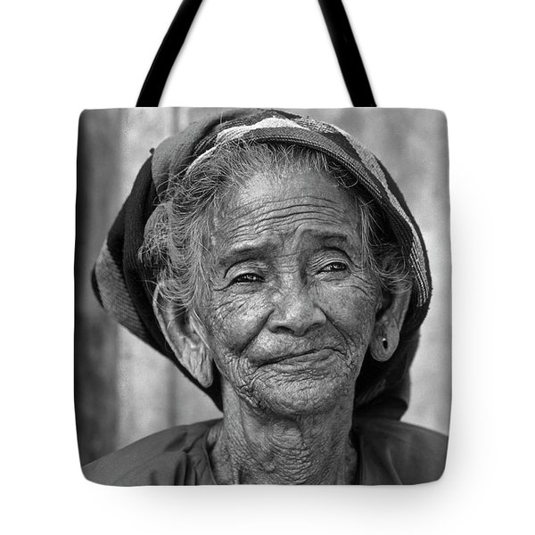 Old Vietnamese Woman Tote Bag