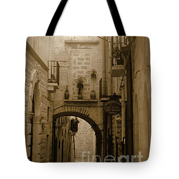 Tote Bag featuring the photograph Old Village Street by Frank Stallone