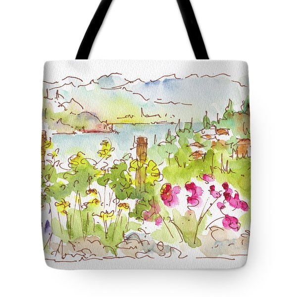 Tote Bag featuring the painting Old Vines Okanagan by Pat Katz