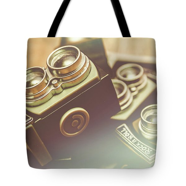 Old Vintage Faded Print Of Camera Equipment Tote Bag