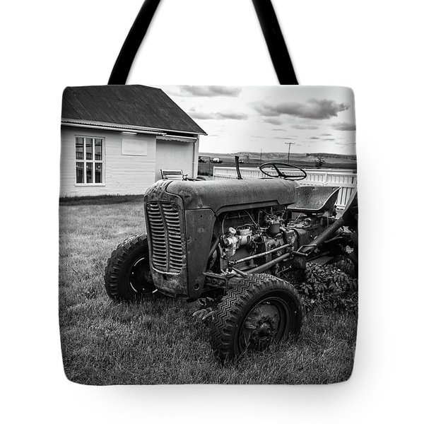 Tote Bag featuring the photograph Old Vintage Tractor Iceland by Edward Fielding