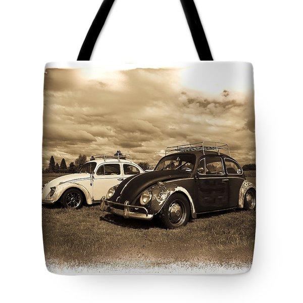 Old Vw Beetles Tote Bag by Steve McKinzie
