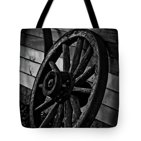 Old Wagon Wheel Tote Bag by Joann Copeland-Paul