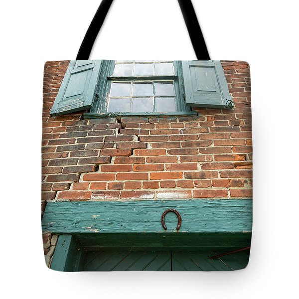 Old Warehouse Window And Lucky Door Tote Bag