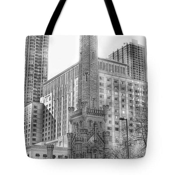 Old Water Tower - Chicago Tote Bag