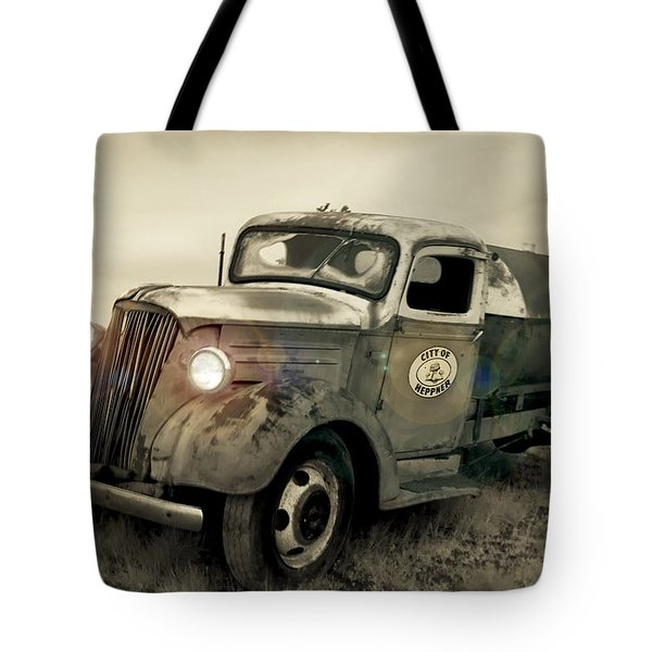 Old Water Truck Tote Bag