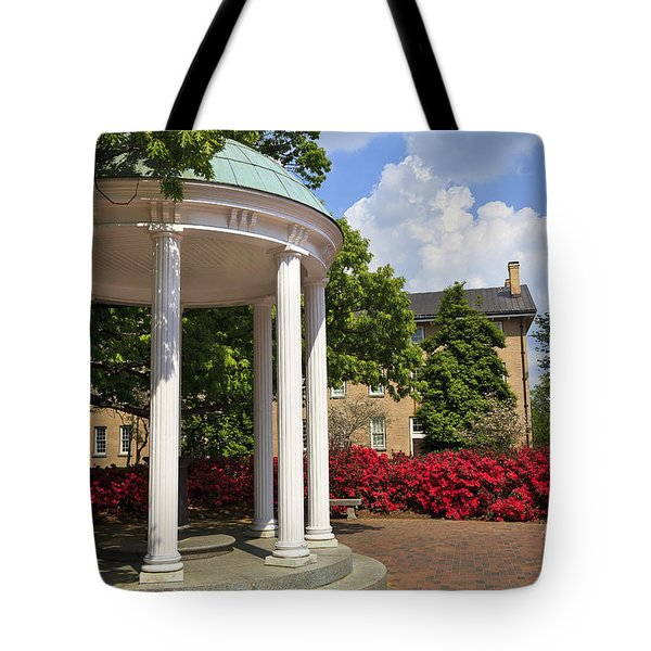 Old Well At Chapel Hill In Spring Tote Bag