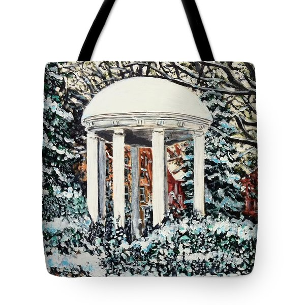 Old Well Winter Tote Bag