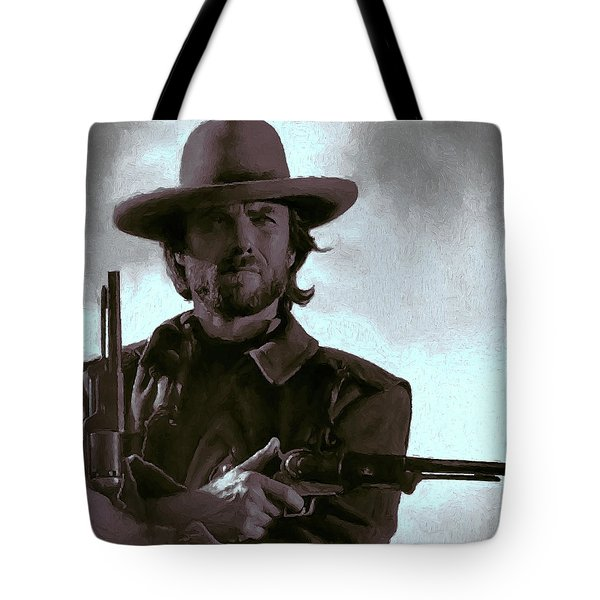 Old West Eastwood Painterly Tote Bag