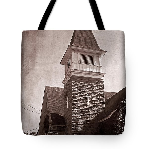 Tote Bag featuring the photograph Old Western Cathedral Cafe by Aimee L Maher Photography and Art Visit ALMGallerydotcom