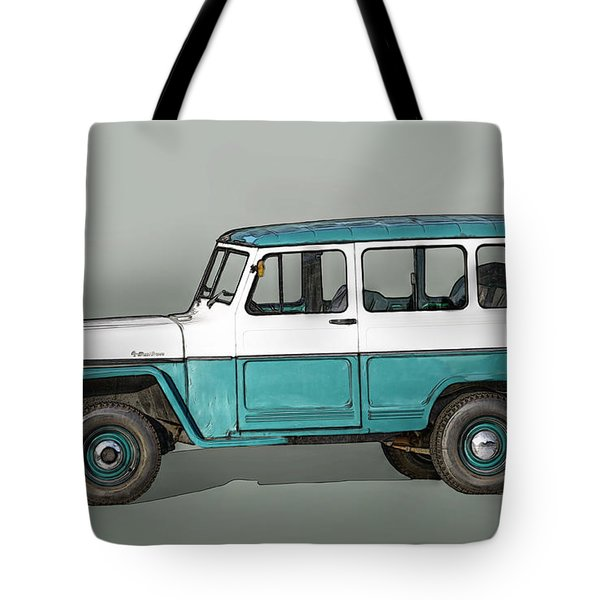 Old Willys Jeep Wagon Tote Bag