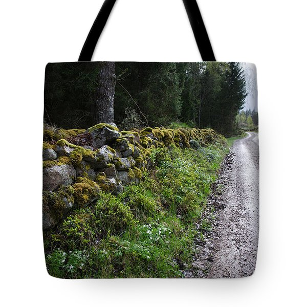 Tote Bag featuring the photograph Old Winding Gravel Road by Kennerth and Birgitta Kullman