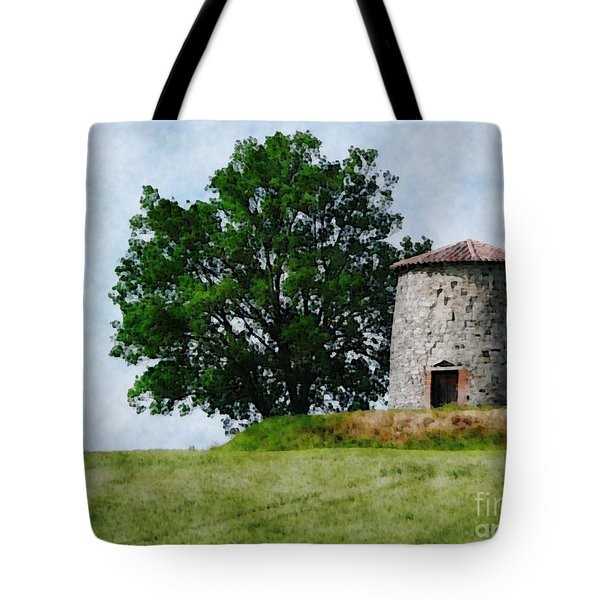 Tote Bag featuring the photograph Old Windmill by Jean Bernard Roussilhe