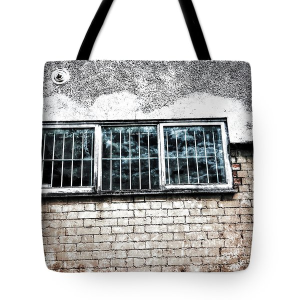 Old Window Bars Tote Bag