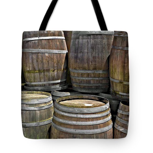 Old Wine Barrels Tote Bag