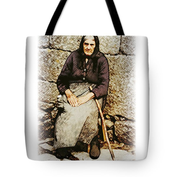 Old Woman Of Spain Tote Bag by Kenneth De Tore