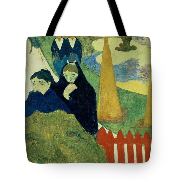 Old Women Of Arles Tote Bag by Paul Gauguin