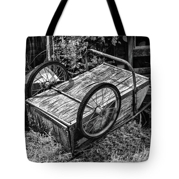 Old Wood Cart Tote Bag