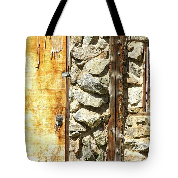 Old Wood Door Window And Stone Tote Bag by James BO  Insogna