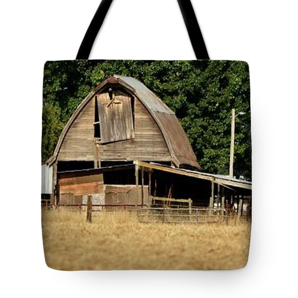Old Wooden Barn Tote Bag