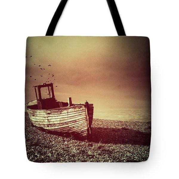 Old Wooden Boat Tote Bag