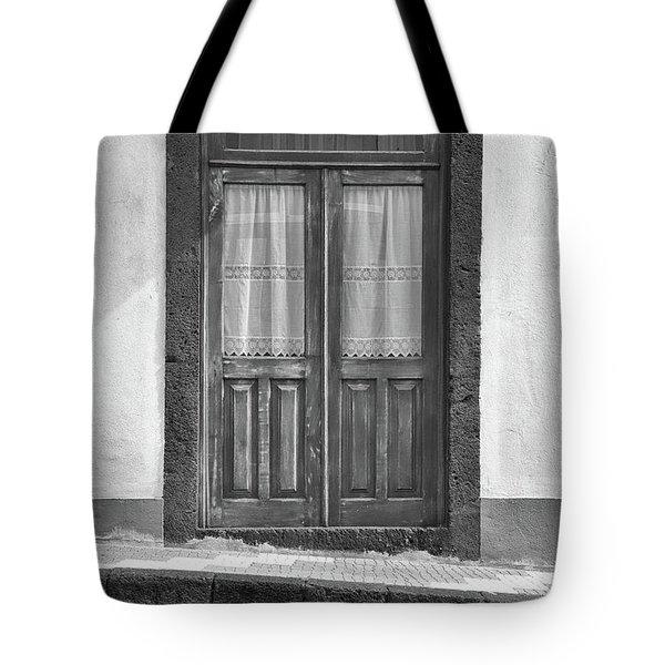 Old Wooden House Door Tote Bag