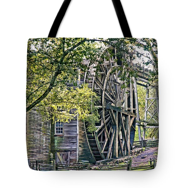 Tote Bag featuring the photograph Old Wooden Mill by Kim Wilson